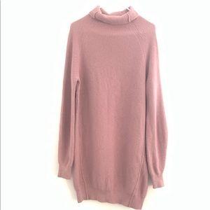 Acne Studios Wool Mock Neck Sweater Dress